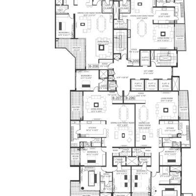Godrej Platinum Wing B - Third Floor Plan