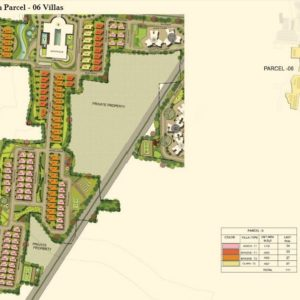 Numbering Plan Parcel - 06-Villas- Prestige Lakeside Habitat