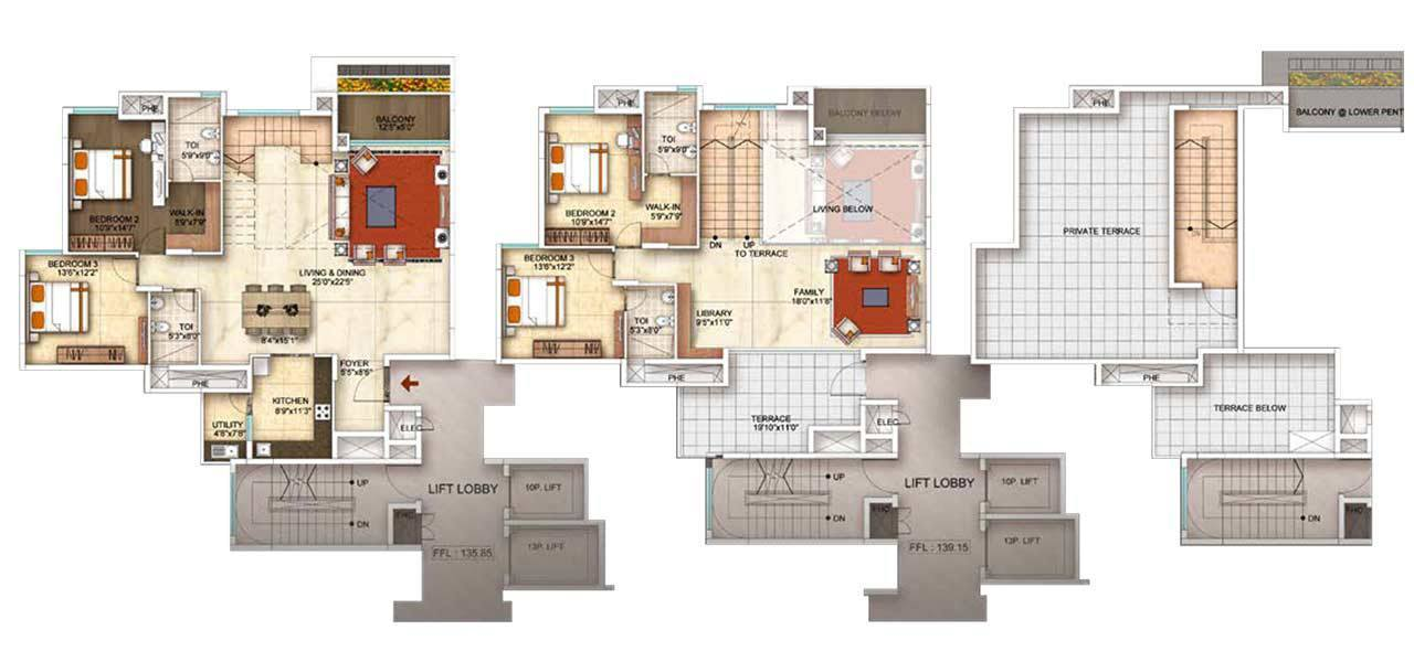 floor plans by address the address makers five summits 3 amp 4 bhk whitefield bangalore 17650