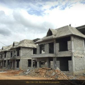 Prestige Lake Side habitat Villas Development Progress Pictures