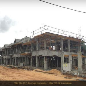 Prestige Lake Side habitat Villas construcion Progress Photos