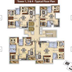 Tower1-T3-T4 Salarpuria Divinity Floor Plan
