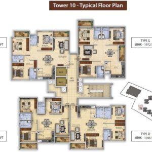 Tower 10 Salarpuria Divinity Floor Plan