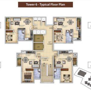 Tower 6 Salarpuria Divinity Floor Plan