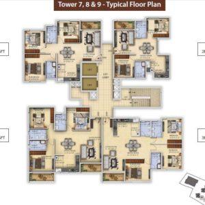 Tower 7-T8-T9 Salarpuria Divinity Floor Plan