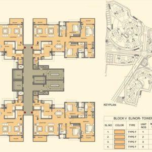 Tower 13- Prestige Lakeside Habitat Typical Floor Plan