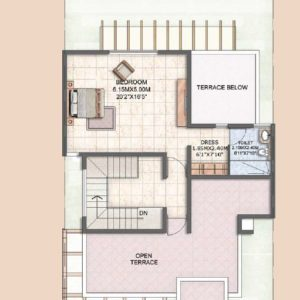 Villa Type A2 Second Floor Plan