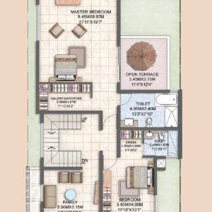 Villa Type A3 First Floor Plan