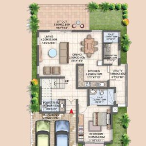 Villa Type A3 Ground Floor Plan