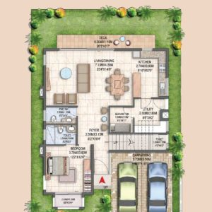 Villa Type B Ground Floor Plan-Prestige villas  in Bangalore