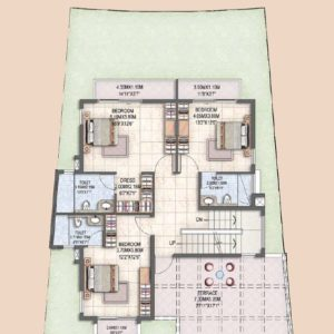 Villa Type B1 First Floor Plan