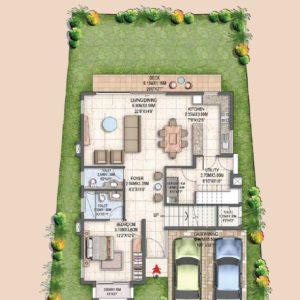 Villa Type B1 Ground-Floor Plan