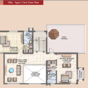 Villa Type C First Floor Plan
