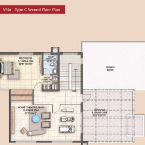 Villa Type C second Floor Plan-