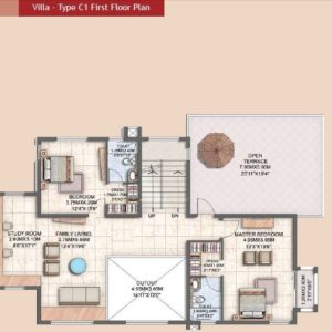 Villa Type C1 First Floor Plan