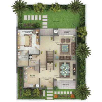 2900 SFT Ground Floor Plan