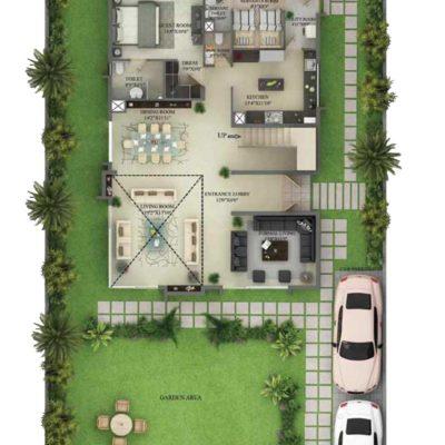 5530 Sq.ft Villa First Floor Plan