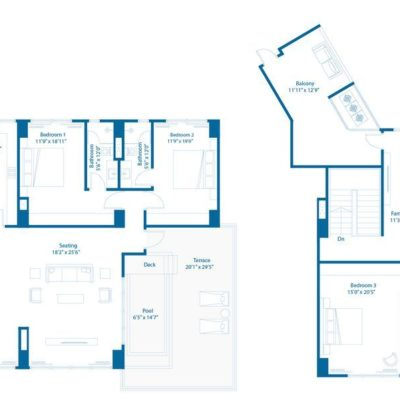 Embassy Lake Terraces 5 Bedroom Floor Plan