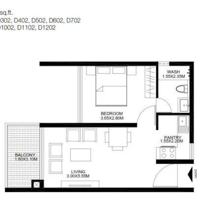 godrej-united-1-bedroom-plan