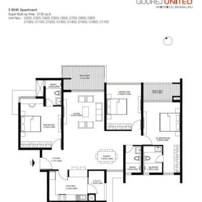 godrej-united-3-bedroom-floor-plans
