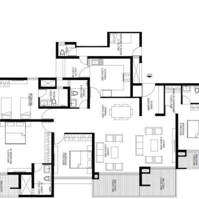 godrej-united-4-bedroom-floor-plan