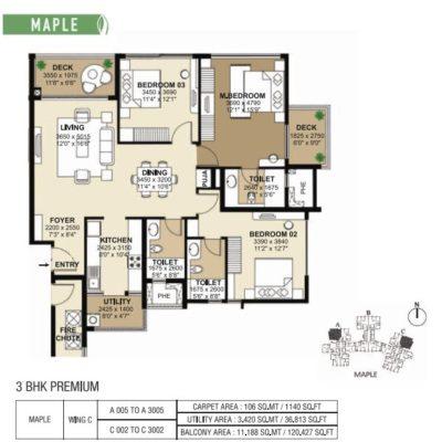 shapoorji-park-west-3-bedroom-plan
