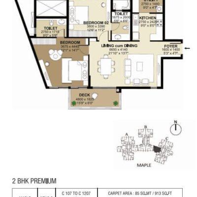 shapoorji-parkwest-east-facing-floor-plans
