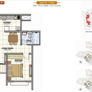 1 Bedroom Prestige Sunrise Park Floor Plan