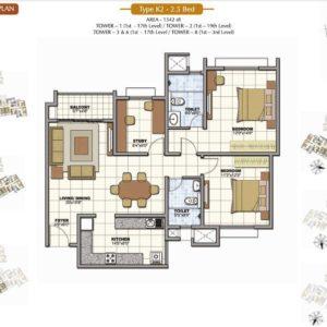 2.5 Bed Prestige Sunrise Park Floor Plan