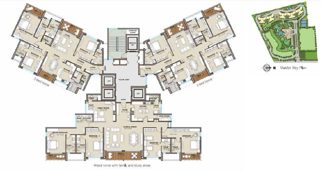 Phoenix One Bangalore West 3 Amp 4 Bhk Apartment Rajajinagar