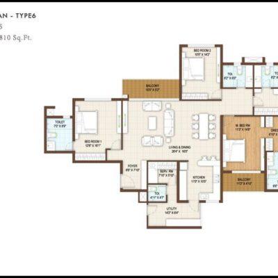 4Bedroom floor plan-Type6 DNR Reflection