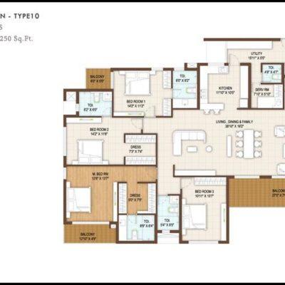 4 BHK Floor Plan Type10-DNR Reflection