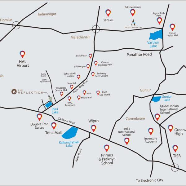 DNR Reflection Location bangalore