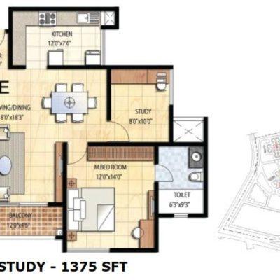 prestige-falcon-city-2-study-floorplan