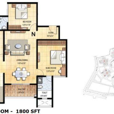 prestige-falcon-city-3-bedroom-floor-plan
