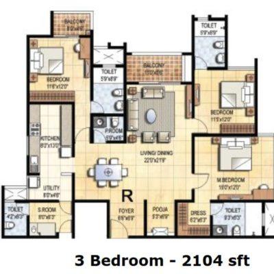 prestige-falcon-city-3-bhk-floor-plan