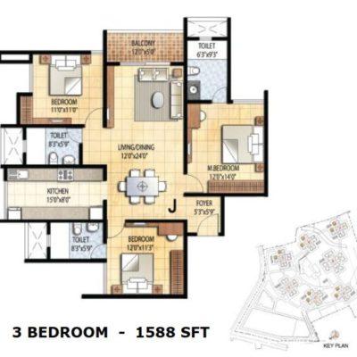prestige-falcon-city-floor-plan