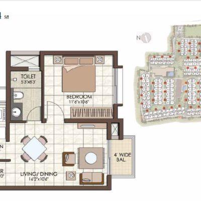 prestige-kew-gardens-1-bhk-floor-plan