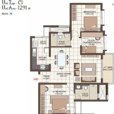 prestige-kew-gardens-2Br+ study-plan