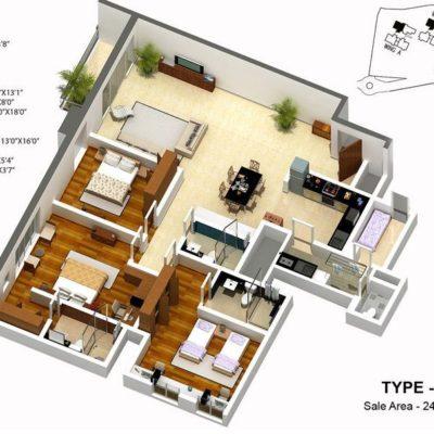 karle-zenith-3-bed-floor-plan-type-2