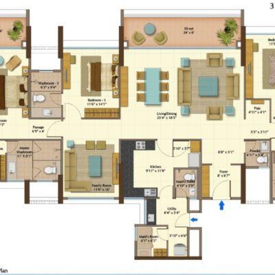 Peninsula Heights 3 Amp 4 Bedroom Apartments Jp Nagar Bangalore
