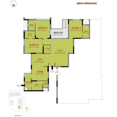 3 BHK-divyasree-77-place-floor-plans