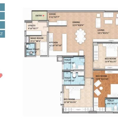 monarch-aqua-3-bhk-plans