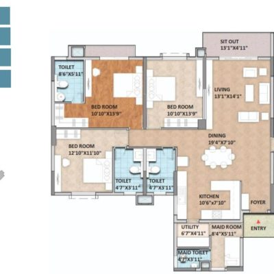 monarch-aqua-4-bedroom-plan