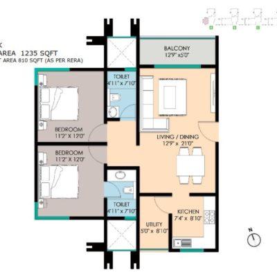 2 Bedroom Plans