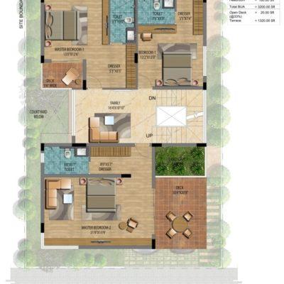 Address Makers Lake View 2400 sft Villa plot