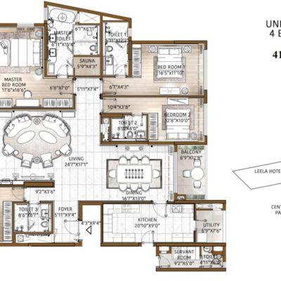 bhartiya-city-the-leela-residences-floor-plan