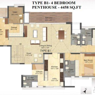 Prestige Deja Vu Penthouse Type B1-Lower Level