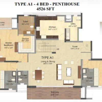 Prestige Deja Vu Penthouse Type A1-Lower Level