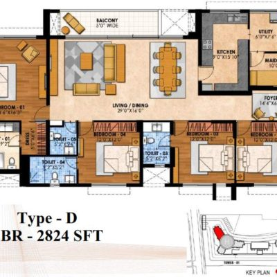 prestige-fairfield-4-bedroom-plan